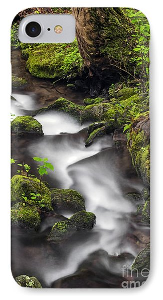 Downstream From The Waterfalls Phone Case by Madonna Martin