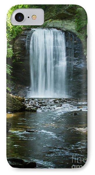 IPhone Case featuring the photograph Downstream Shade Looking Glass Falls Great Smoky Mountains Art by Reid Callaway