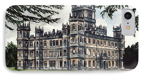 Downton Abbey Estate Highclere Castle IPhone Case by Laura Row