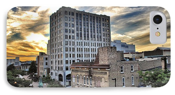 Downtown Appleton Skyline IPhone Case by Mark David Zahn
