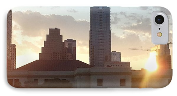Downtown Austin IPhone Case by Karen J Shine