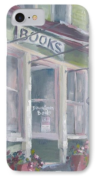 Downtown Books Four IPhone Case by Susan Richardson