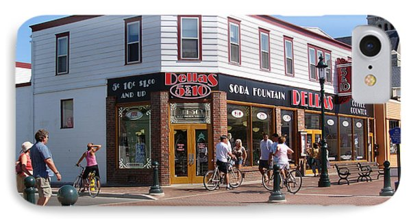 Downtown Cape May New Jersey IPhone Case by Rod Jellison