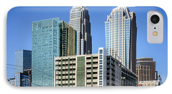 Downtown Charlotte North Carolina Buildings IPhone Case by Paul Velgos