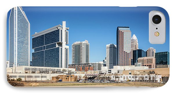 Downtown Charlotte Skyline Skyscrapers IPhone Case by Paul Velgos