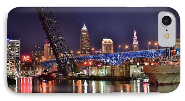 Downtown Cleveland IPhone Case by Frozen in Time Fine Art Photography