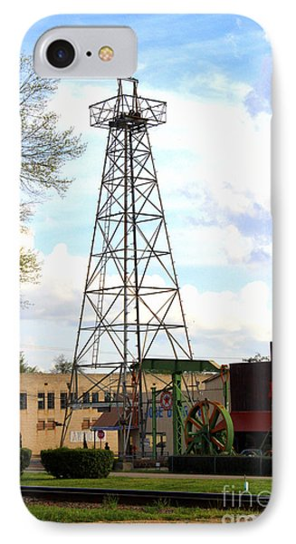 Downtown Gladewater Oil Derrick IPhone Case