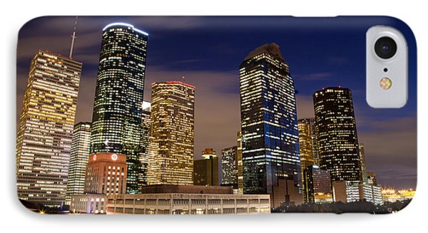 Downtown Houston At Night Phone Case by Olivier Steiner