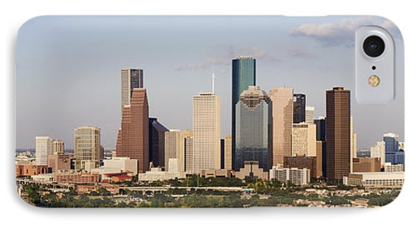 Downtown Houston Skyline Phone Case by Jeremy Woodhouse