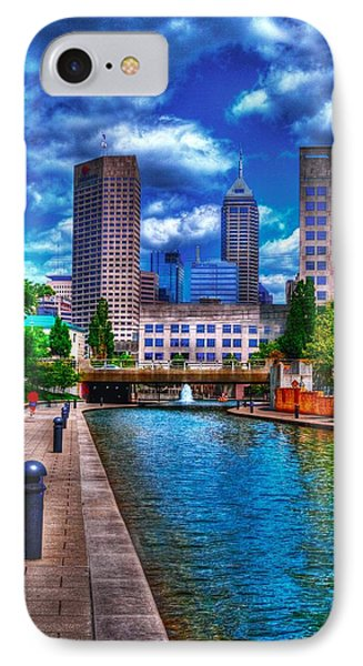 Downtown Indianapolis Canal IPhone Case by David Haskett