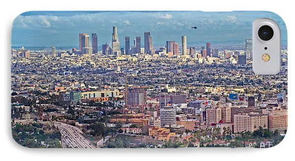 Downtown Los Angeles IPhone Case by Kim Wilson