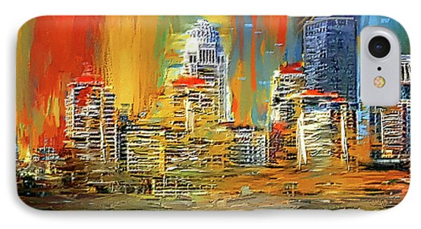 Downtown Louisville - Colorful Abstract Art IPhone Case by Lourry Legarde