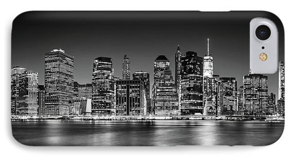 IPhone Case featuring the photograph Downtown Manhattan Bw by Az Jackson