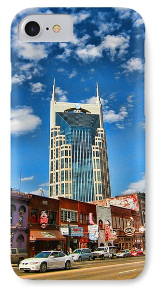 Downtown Nashville Blue Sky IPhone Case by Dan Sproul