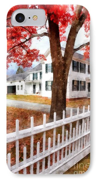 Downtown Norwich Vermont Picket Fence IPhone Case