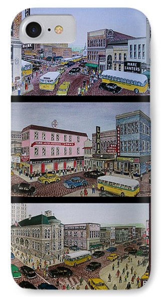 Downtown Portsmouth 1948 IPhone Case by Frank Hunter