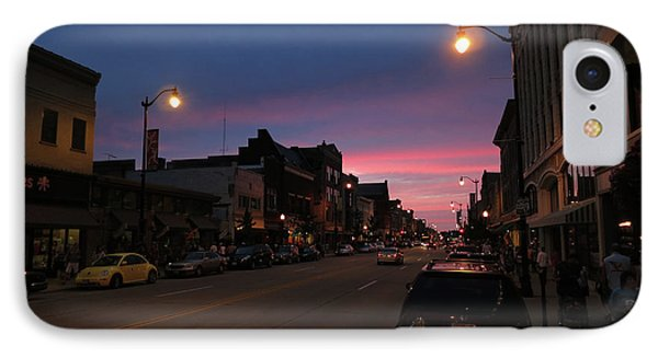 IPhone Case featuring the photograph Downtown Racine At Dusk by Mark Czerniec