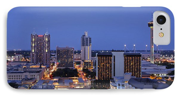 Downtown San Antonio At Night Phone Case by Jeremy Woodhouse