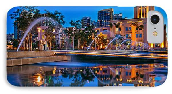 Downtown San Diego Waterfront Park IPhone Case by Sam Antonio Photography
