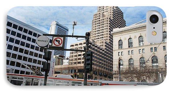 Downtown San Francisco - Market Street Buses IPhone Case by Matt Harang