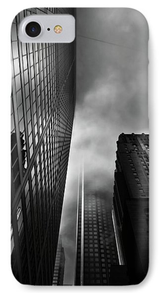 IPhone Case featuring the photograph Downtown Toronto Fogfest No 4 by Brian Carson