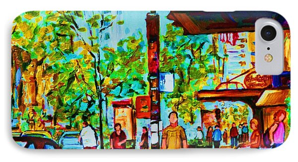 Downtowns Popping Phone Case by Carole Spandau
