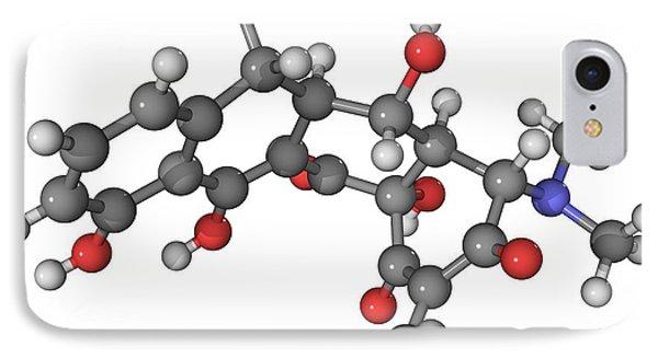 Doxycycline Antibiotic Molecule Phone Case by Laguna Design