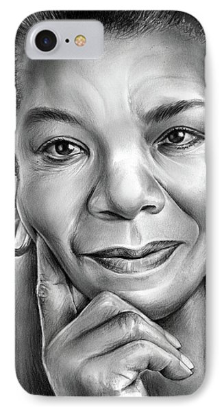 Dr Maya Angelou IPhone Case by Greg Joens