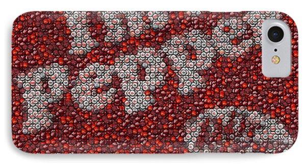 Dr. Pepper Bottle Cap Mosaic Phone Case by Paul Van Scott