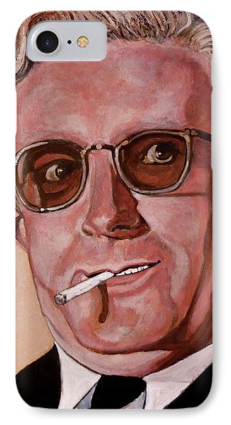 IPhone Case featuring the painting Dr Strangelove 2 by Tom Roderick