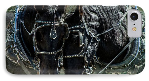 IPhone Case featuring the photograph Draft Horses by Mary Hone