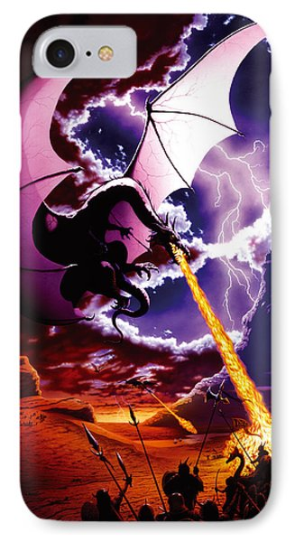 Dragon Attack IPhone Case by The Dragon Chronicles - Steve Re
