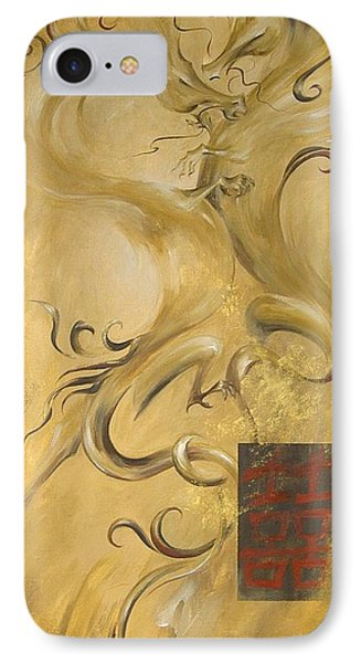 IPhone Case featuring the painting Dragon Double Happiness by Dina Dargo