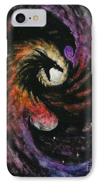 IPhone Case featuring the painting Dragon Galaxy by Stanley Morrison