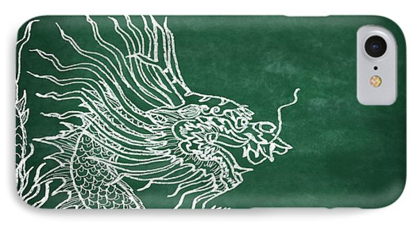 Dragon On Chalkboard Phone Case by Setsiri Silapasuwanchai