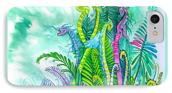 Dragon Sprouts IPhone Case by Adria Trail