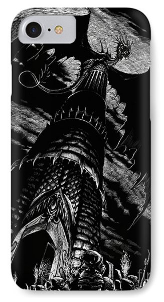 Dragon Tower IPhone Case by Stanley Morrison