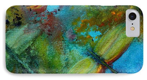 IPhone Case featuring the painting Dragonflies by Karen Fleschler