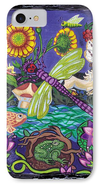 Dragonfly And Unicorn Phone Case by Genevieve Esson