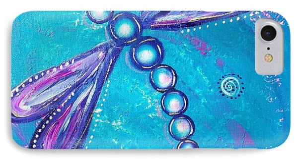 Dragonfly Bubble Art IPhone Case by Rene Waddell