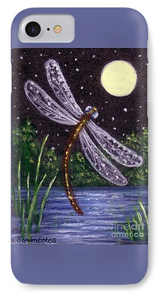 IPhone Case featuring the painting Dragonfly Dreaming by Sandra Estes