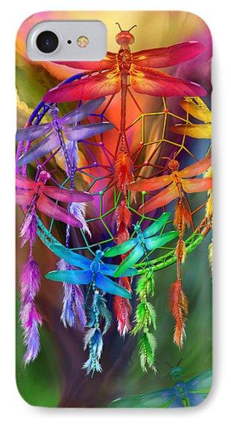Dragonfly Dreams IPhone Case by Carol Cavalaris