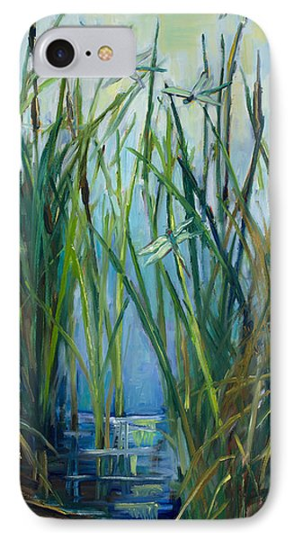 Dragonfly Fest Plein Air IPhone Case by Marie Massey