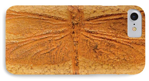 Dragonfly Fossil IPhone Case by Sandy Taylor