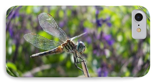 Dragonfly In Bubble IPhone Case