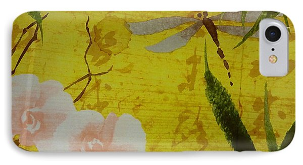 Dragonfly N Roses IPhone Case