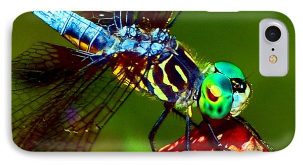 IPhone Case featuring the photograph Dragonfly On A Pitcher Plant 007 by George Bostian