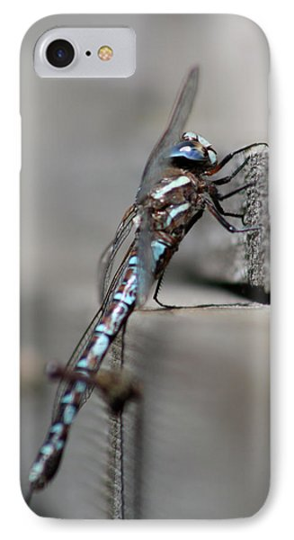 IPhone Case featuring the photograph Dragonfly Pause by Cathie Douglas