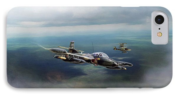 IPhone Case featuring the digital art Dragonfly Special Operations by Peter Chilelli
