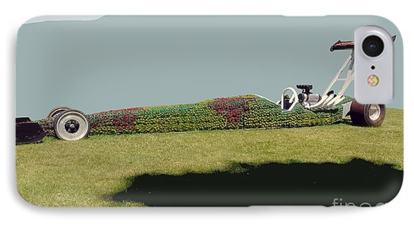 IPhone Case featuring the photograph Dragster Flower Bed by Bill Thomson